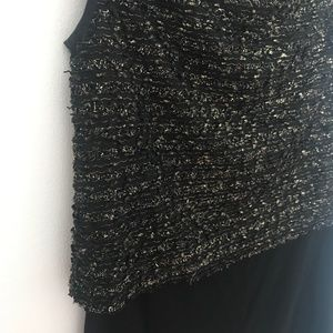 Badgley Mischka Tops - ❗️SOLD❗️Badgley Mischka Black Gold Boucle Top